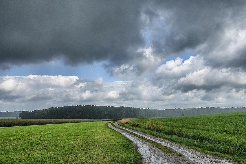 Wetterumschwung im Dorf
