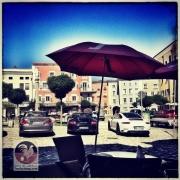 Parkplatz am Marienplatz vorm Café Lackner in Laufen