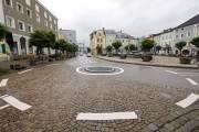 Kreisverkehr Laufen Bayern Marienplatz