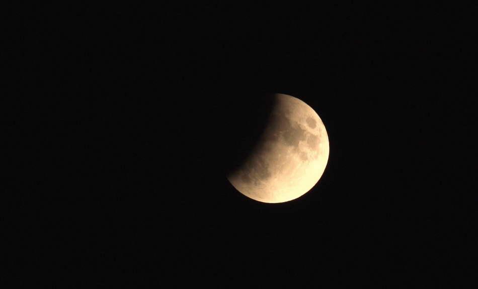 Mondfinsternis im Weidmoos