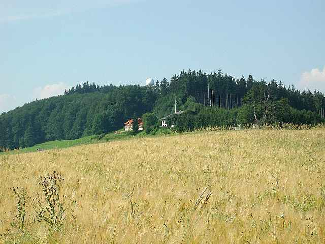 Blick auf den Haunsberg Richtung Gasthaus Kaiserbuche.