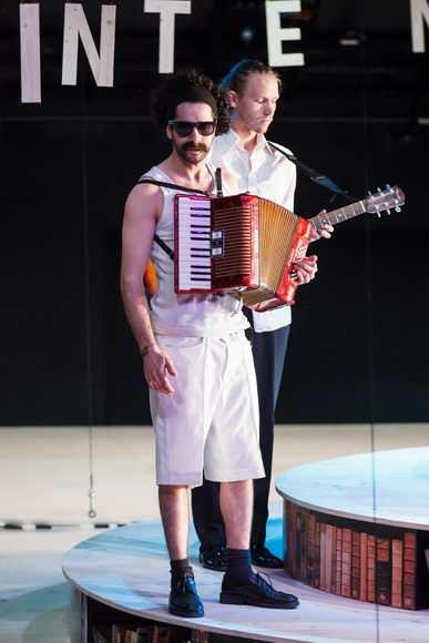 Musiker: Benjamin Baierlein (vorne), Christopher Biribauer