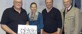 Von links: Dr. Karl Traintinger, Mag. Heidi Hirscher, Thomas Selinger, Hofrat Dr. Josef Schöchl