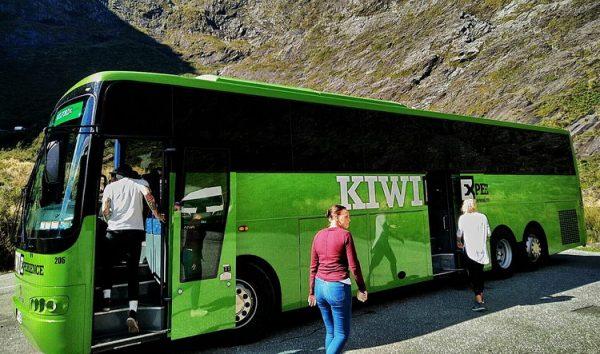 Die Kiwi Busse ermöglichen eine stressfreie Tour durch Neuseeland