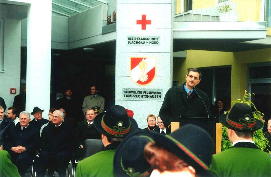 Dr. Franz Schausberger und Landtagspräsident Hans Holztrattner