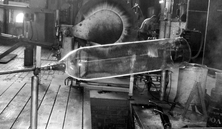 Glaswalze fertig geblasen