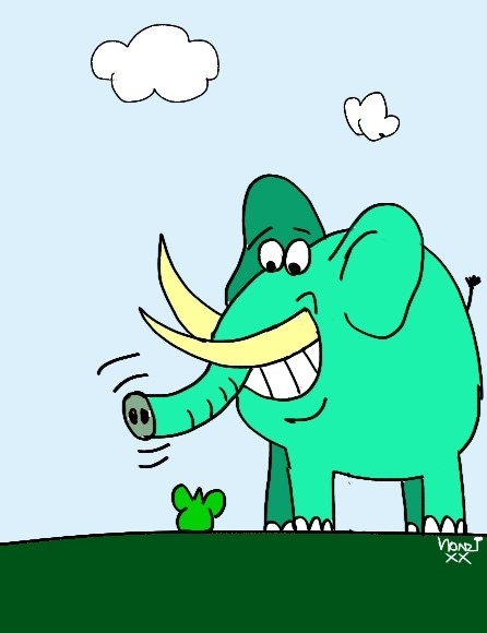 Bunte Elefanten